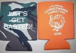Basted Thanksgiving design Koozie