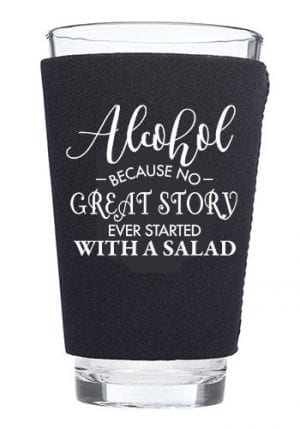 Neoprene Pint Glass Koozie-alcohol