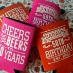 birthday koozies