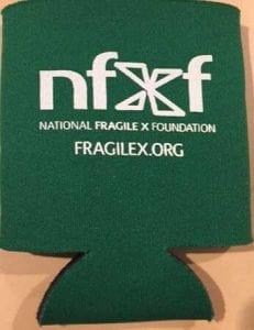 National fragile foundation Dark Green Koozie