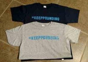 #keeppounding t-shirts