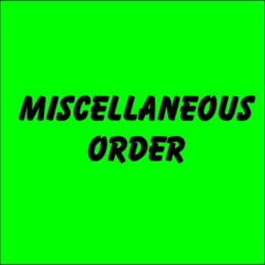 Miscellaneous order at Kustom Koozies