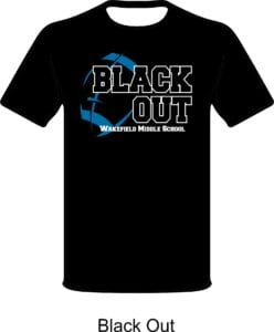 wakefield black out t-shirts