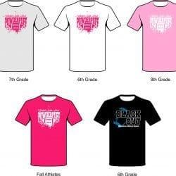 wakefield middle school powderpuff t-shirts