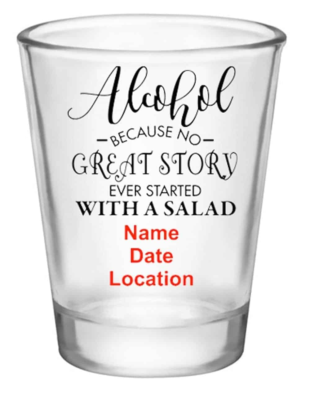 Personalized Shot Glasses alcohol salad
