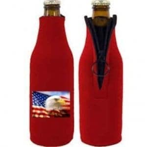 Kustom Koozies fabric can cooler, zipper bottle for longneck bottles