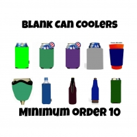 Blank KOOZIE's can coolers