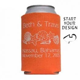 Fabric Koozie no minimum order