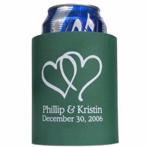 Full Color Neoprene Zip up bottle koozie