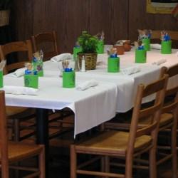 wedding koozies on table