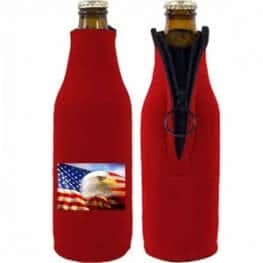 Full color fabric zipper koozie