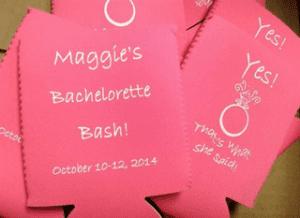 Bachelorette Bash pink Coozie