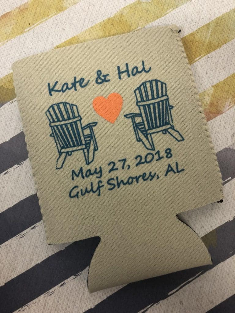 2-color beach chair wedding coolie