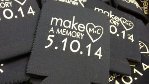 Make a memory wedding Koozies