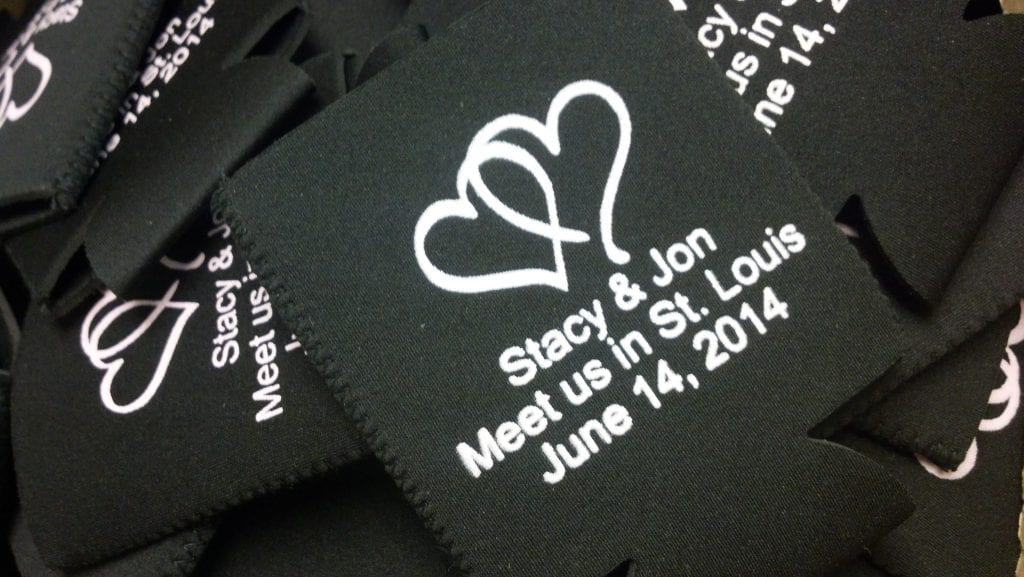 Meet us in St. Louis Wedding Koozies