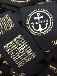 nautical wedding custom Koozie
