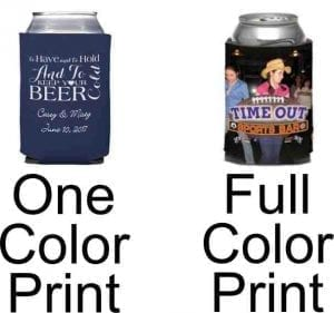 One color versus full color print