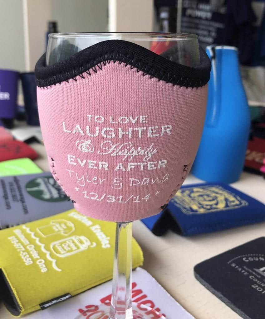 pink wine wrap