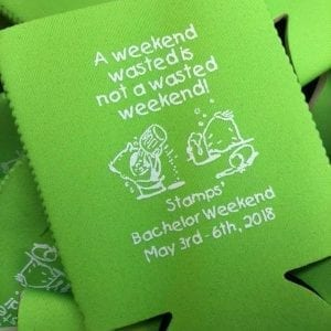 Wasted weekend koozie