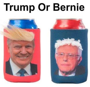 Trump or Bernie Koozies