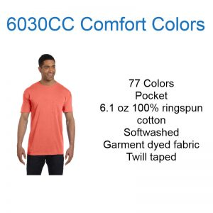 6030cc Pocket Comfort Colors