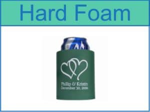 hard foam koozies