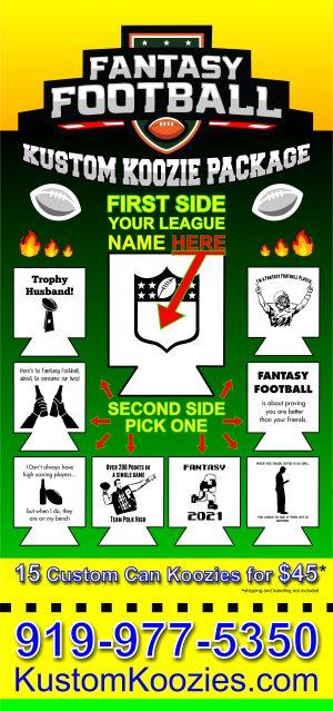 Fantasy Football League Koozies